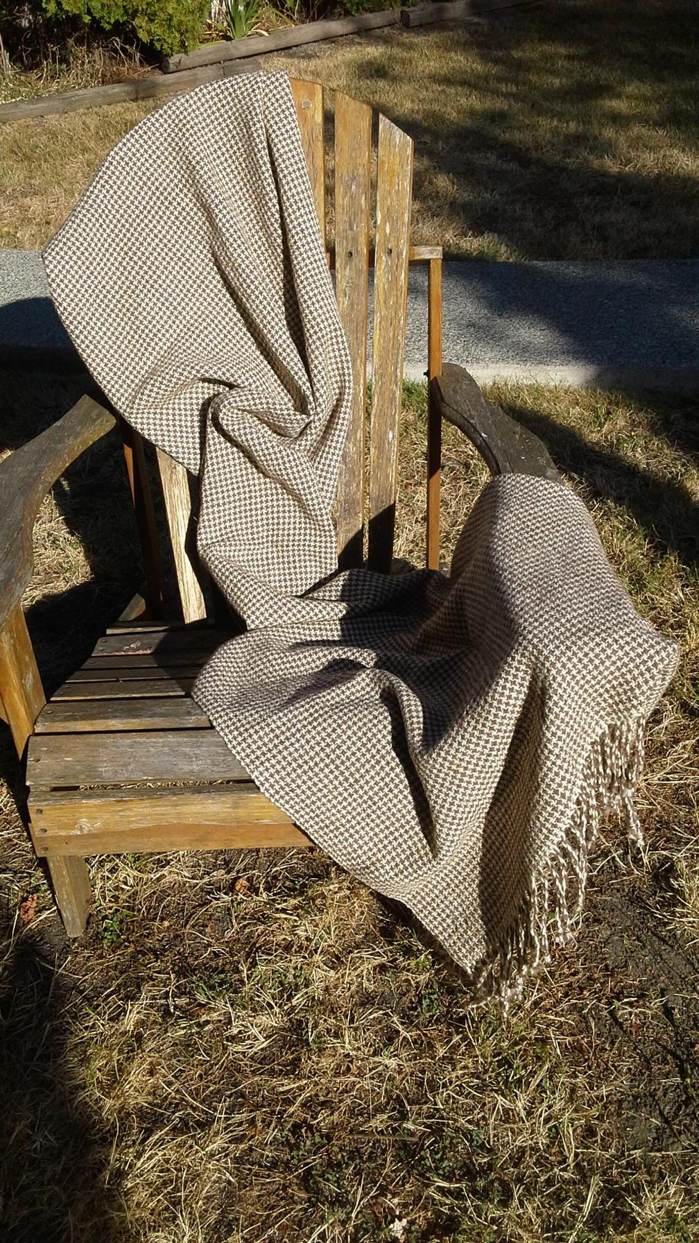 Brenda N - Houndstooth shawl