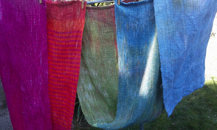 Brenda's Acid Dyed Linen in the breeze