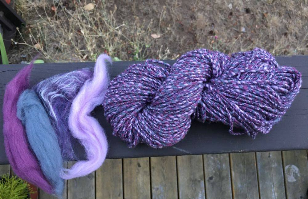 Jill -- Merino and silk handspun