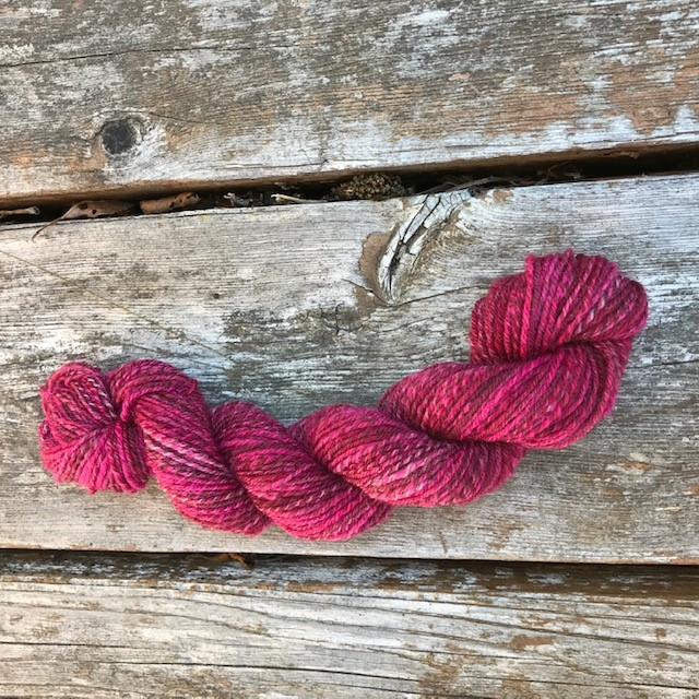 Glenda -- handspun skein with Southdown and Silk