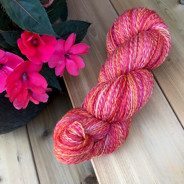 Glenda -- handspun skein Polwarth and Silk