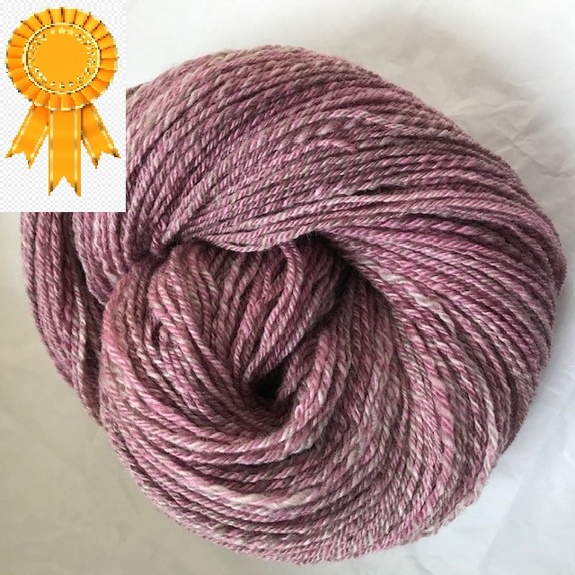 Glenda -- handspun skein with BFL and silk