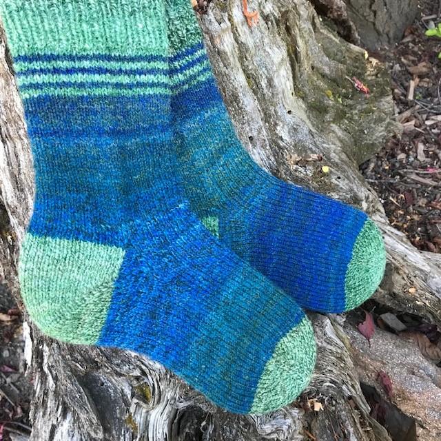 Glenda -- blue socks