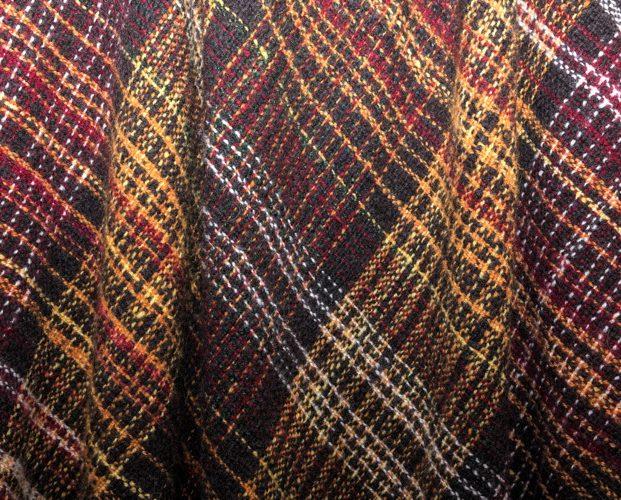 Handspun, hand dyed, woolen blanket
