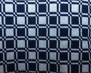 Double weave checkerboard in alpaca blend